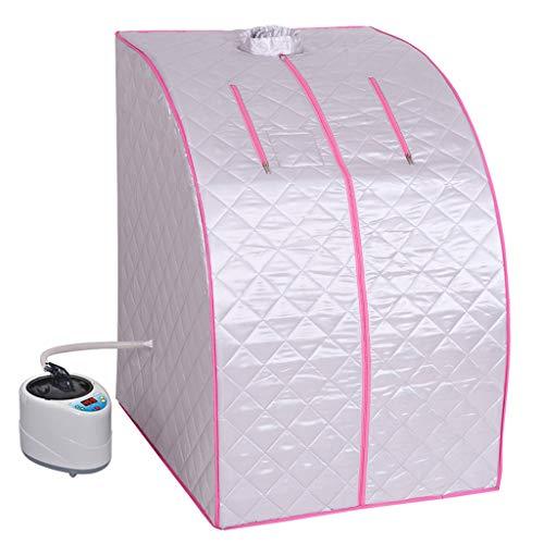 Folding stoombak stoomsauna box lichte draagbare persoonlijke stoomsauna Spa Tent gewichtsverlies detox, met afstandsbediening, roze, remote control