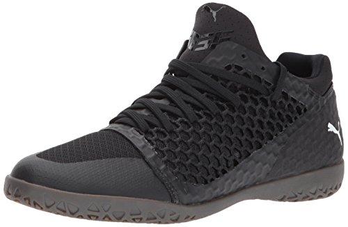 PUMA Men's 365 Netfit CT Soccer Shoe, Black White, 11 M US