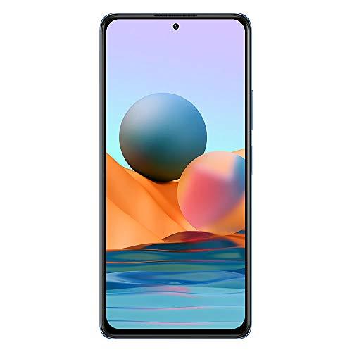 Xiaomi Redmi Note 10 Pro Smartphone 6GB 128GB 6.67' 120Hz AMOLED DotDisplay 108MP Wide-Angle Cámara 5020mAh (typ) NFC Dual SIM Card Azul Glaciar [Versión en Español]
