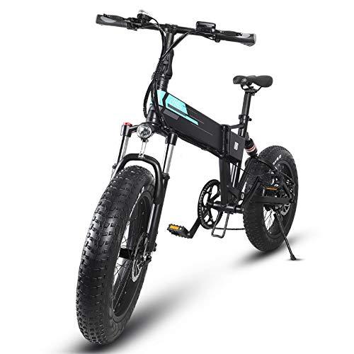 Bicicleta de Montaña Eléctrica para Adultos,Motor de 250W,Caja de Cambios de 7 Velocidades,Batería de 12.5Ah,Neumáticos de 20 Pulgadas,Batería Extraíble,Pantalla LCD,100 km de Larga Distancia
