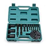 Nrpfell 14 Piezas A/C Compresor Extractor de Embrague A/C Extractor Instalador Kit de Herramientas de Aire Acondicionado Kit de ReparacióN de AutomóViles
