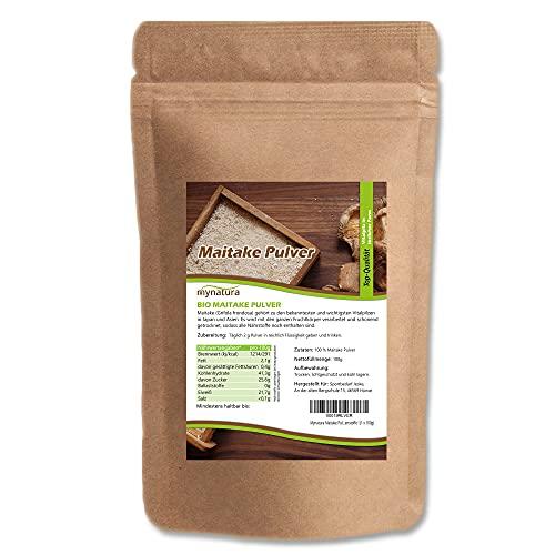 Mynatura Maitake Pulver I Vitalpilz I Grifola frondosa I Pilz I Mineral-Pilz I Klapperschwamm I Sekundäre Pflanzenstoffe I (1 x 100g)