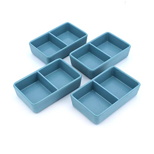 Gearific Paquete de 4 Platos de Salsa, Platos de melamina para condimentar, Platos para Servir Aperitivos, tazón de inmersión de Sushi, 3 oz (B)