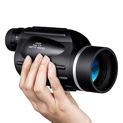 Monocularteleskop 13x50 Außen monokulare Optic 4 Koordinaten Entfernungsmesser Spek Teleskop Outdoor Wandern for Vogelbeobachtung ng fengong (Color : Black, Size : 183 x 89 x 76mm)
