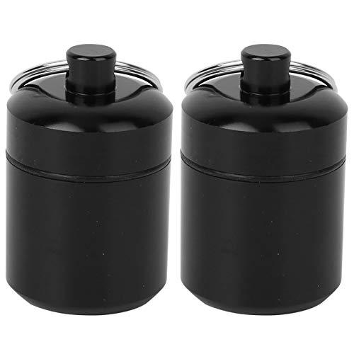 DAUERHAFT Paquete de 2 contenedores de Pastillas de Metal Ligero y Resistente con Llavero, Resistente al Agua, portátil, para Viajes, Camping, Senderismo, al Aire Libre
