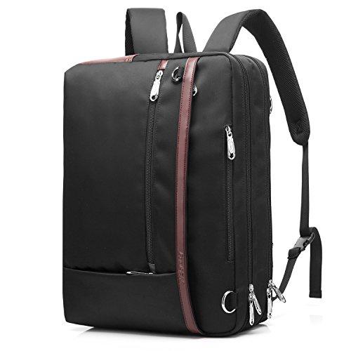 CoolBELL Maletín convertible para portátil de 15,6 pulgadas, bolso de mensajero, bolso de hombre; bolso de negocios, multiusos, bolso de trabajo, viajes, mochila de hombro, color negro