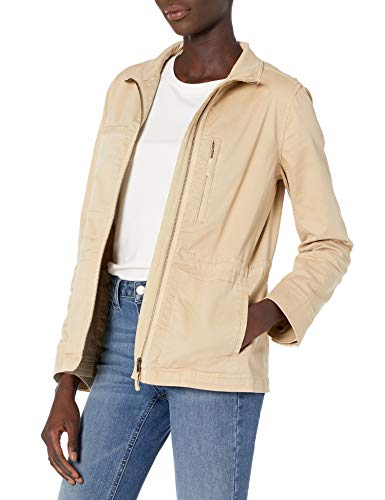 Amazon Brand - Daily Ritual Women's Military Cargo Jacket, Warm Sand, 14