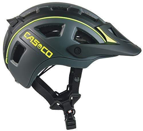 Casco MTBE 2 MTB, casco da MTB, nero e giallo fluo opaco, circonferenza testa: 58-62 cm