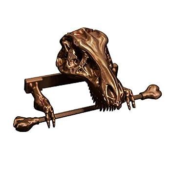 Skeleton Toilet Paper Holder - Creative Dinosaur Tissue Paper Holder Organizer for Wall Skull Tissue Holder for Bathroom Storage Living Room Decor  Dinosaur Tissue Holder  Gifts for Dino Lovers