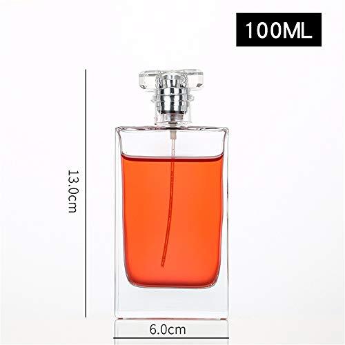 JUZEN Bouteille Vide de Parfum, Bouteille atomisée de Parfum Transparent de Haute qualité, Bouteille Vide en Verre,100ml*3