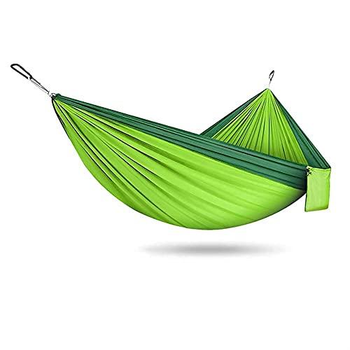 KTDT Amaca Amaca da Campeggio DoppiaSingola Portatile Paracadute in Nylon Amache Altalena per Interni Esterni Giardino Escursionismo Viaggi Zaino in Spalla attività Ricreative all'aperto