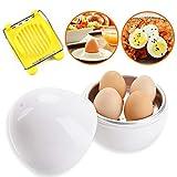 Microonde uova caldaia,uovo caldaia cucina forniture,forma di uovo,Bianco, per 4 uova, Taglia Uova Gratuito