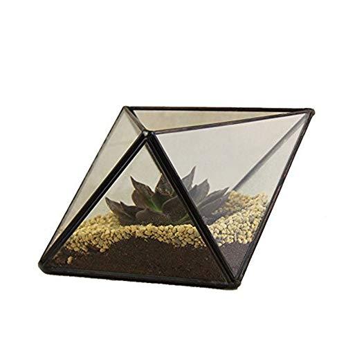Cristal Moderno Moderno geométrico del Diamante terrario de Vidrio Cubierta Balcón Alféizar...