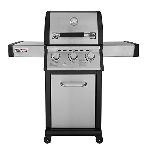 Royal Gourmet MG3000 3-Burner Cabinet Propane Gas Grill, for Outdoor Backyard BBQ...