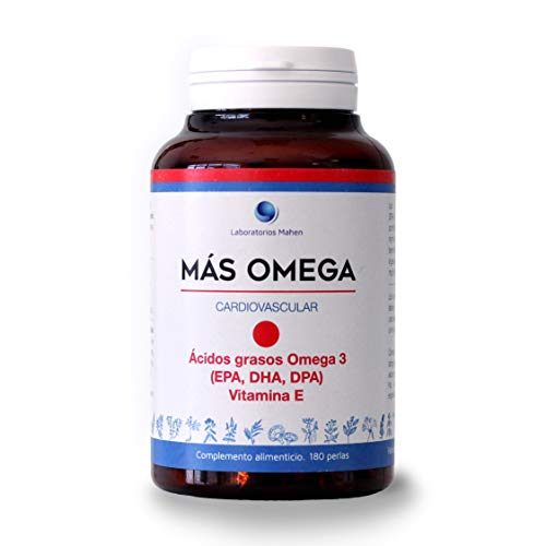 Mahen Complemento alimenticio a base de ácidos grasos Omega 3 - 180 perlas
