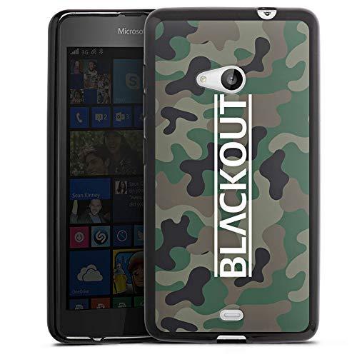 DeinDesign Silikon Hülle kompatibel mit Microsoft Lumia 535 Dual SIM Hülle schwarz Handyhülle Blackout Camouflage YouTube