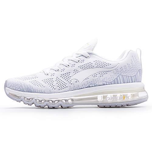ONEMIX Zapatillas deportivas para hombre y mujer, para correr, caminar., color Blanco, talla 41 EU