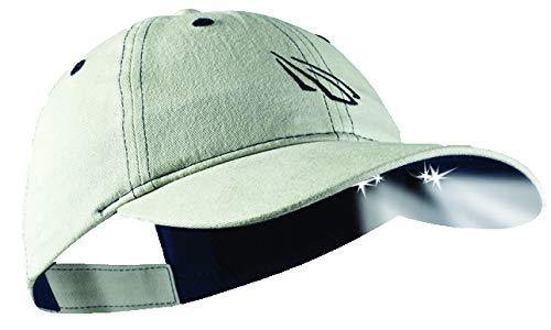Panther Vision 256768 Cappello con Luce per Esterni e lavori manuali, Beige, Taglia Unica