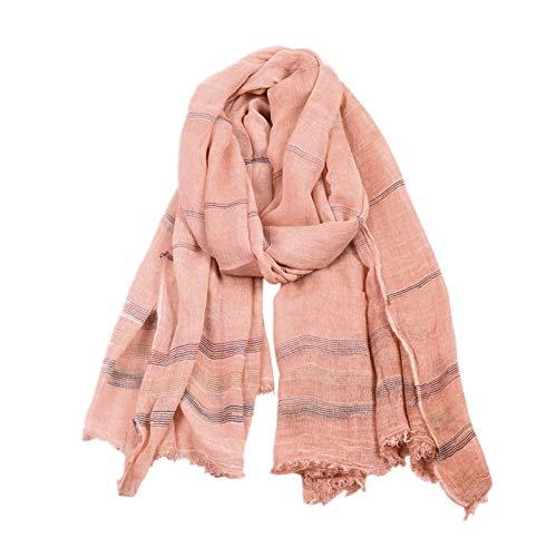 Accesorios de ropa de bufanda para mujer Hombres de punto a rayas de punto para hombres europeos y americanos, algodón de color sólido de invierno y mujer bufanda de lino Madre, esposa, regalo de novi