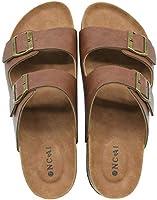 ONCAI Homme-Mules-Sandales-Claquette-Arizona-Slide-Sandales de Plage Loisir Bout Ouvert Chaussures de Plage Antidérapant...