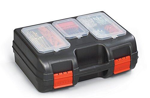 Viso PM02 Polypropyleen Koffer met Organisator in Deksel en Beschermingsschuim - Zwart