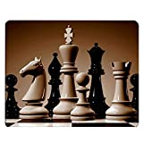 Nicokee Chess Gaming Mousepad Chessboard Pattern Classic International Chess Art Mouse Pad Mouse Mat for Computer Desk Laptop Office 9.5 X 7.9 Inch Non-Slip Rubber