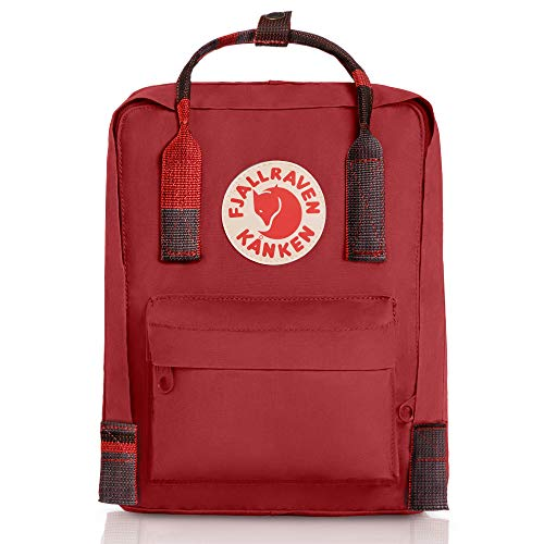 Fjallraven, Kanken Mini Classic Backpack for Everyday, Deep Red/Random Blocked