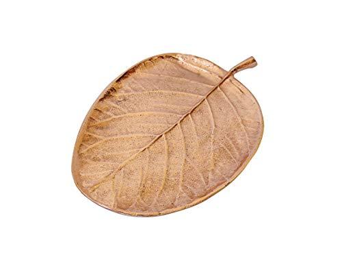 Sculptvriksh Lotus Leaf Aluminium Metal Platter