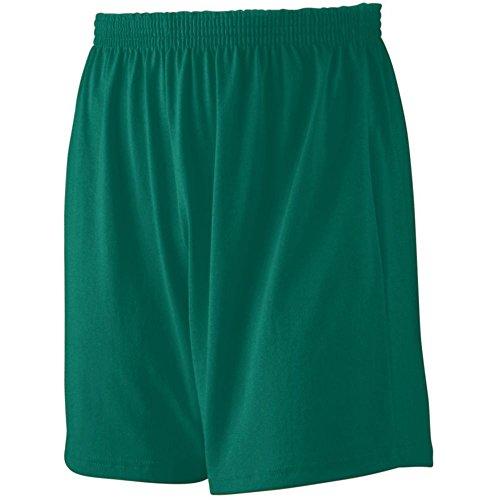 Augusta Activewear Jersey Knit Short-Youth, Dark Green, X Small