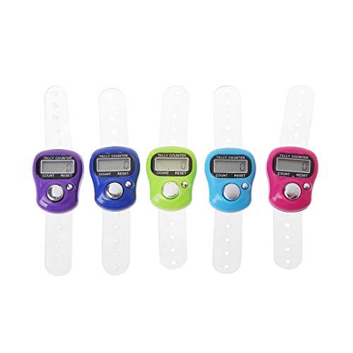 Zoom Mini-steek markeerstiften en vingerteller, LCD-display, elektronische digitale teller, voor het naaien en breien, weven, tool, vingers, teller, willekeurige kleur