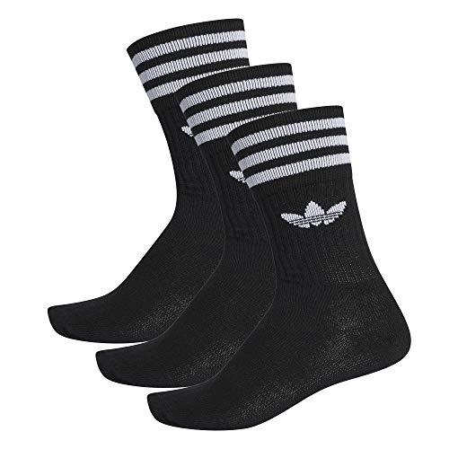 adidas 3 Stripes Crew Socks Socken 3er Pack (39-42, black/white)