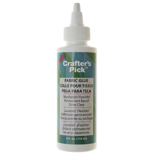 Crafter's Pick Fabric Glue - Washable And Flexible Permanent Bond - 4 Ounces