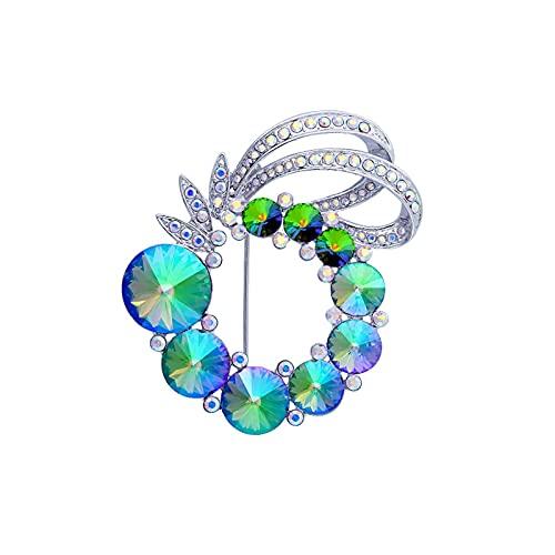 hongbanlemp Broches Broches para la Moda de Las Mujeres - Incrustado con Broche de Cristal Vestido de joyería Bufanda Chal Abrigo Accesorios de decoración Regalo para Esposa Mujer Broche (Color : D)