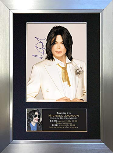 The Gift Room #68 Michael Jackson Autogramm, Nachdruck, A4 (Silver Frame)