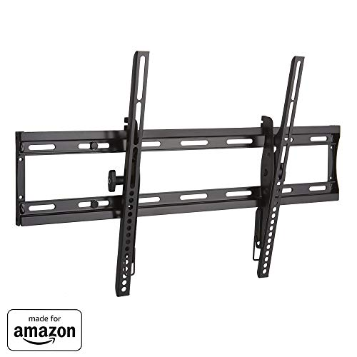 'Made for Amazon' Sanus Low Profile Tilting TV Wall Mount Bracket for 40'-70' TVs - Universal Design is Compatible with Fire TV Editions, TCL, Samsung & More