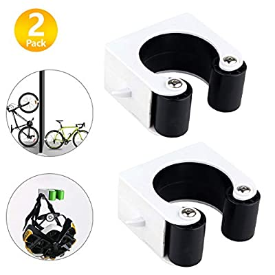 Bike Clip, Indoor Outdoor Wall-Mounted Mountain Bicycle Rack Storage System Protects The Bike Frame and Bicycle Wheels During Transportation and Storage 2 Black-Mountain