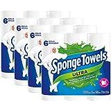 SpongeTowels Ultra ~ 24 Paper Towel Rolls 2 ply 72 Sheet Each - Bulk Value Size
