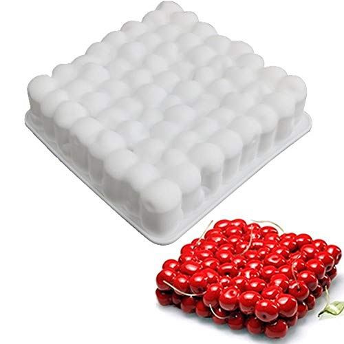Silicone 3D Cherry Shape Cake Mold For Baking Mousse Chocolate Sponge Moulds Pans Cake Decorating Tools accessories-white
