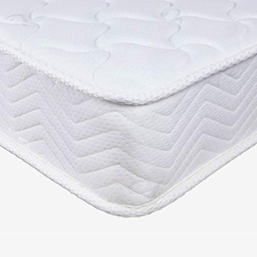 Good Nite Double Mattress 4FT6 Spring Mattress with 5mm Memory Foam Medium Hardness 3D Breathable Knitting Fabric Fire Resistant Support System 18cm Height 135 x 190 CM