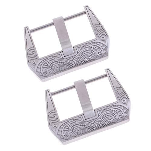 Sharplace Edelstahl- Verschluss Dornschließe Uhrenschnalle, Reparatur Teil für, 22mm Breite