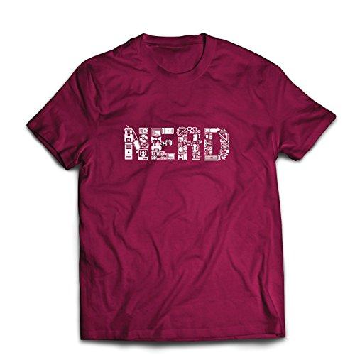 lepni.me Männer T-Shirt Nerd - Programmierer oder Gamer lustige Geschenkidee (XX-Large Burgund Mehrfarben)