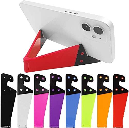 SourceTon 8-teiliges Universal-Handyhalter-Set in Taschengröße, bunt, tragbar, faltbar, V-Modell, Tisch-Ständer, Halterung für Tablets, E-Reader, Handys, Kindles, 8 Stück