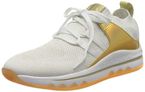 Armani Exchange Sock Sneakers, Zapatillas Mujer, Blanco (White/Blue Gold R579), 38 EU