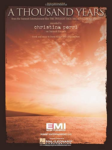 Christina Perri-A Thousand Years-Piano, Vocal and Guitar-BOOK