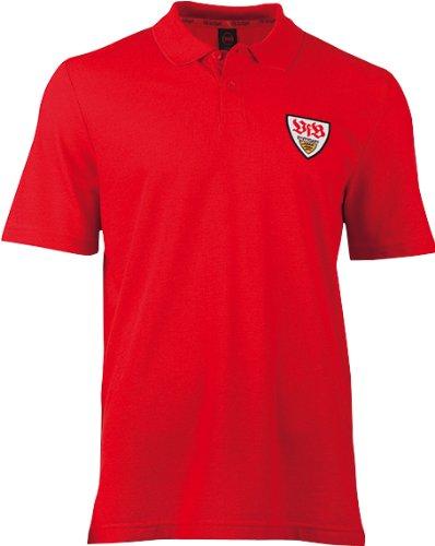 VfB Stuttgart Polo Shirt Eckfahne Rot 6609