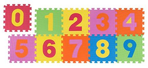 andiamo Puzzleteppich, Kinderspielteppich aus Moosgummi im Set, Farbe:Bunt, Größe:30 x 30 cm