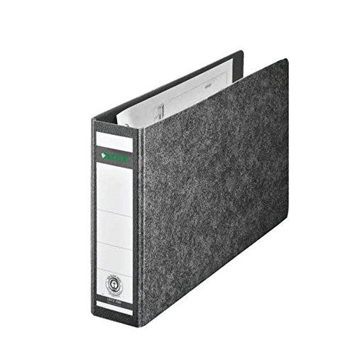 Leitz kwaliteitsordner voor speciale formaten, hard karton (RC) met wolkenmarmer-koffer, zwart A5 liggend Schmal zwart