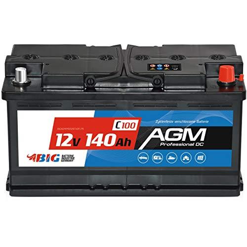 BIG Versorgungsbatterie AGM 12V 140Ah C100 Solar-Batterie für Wohnmobil statt 130Ah 120Ah