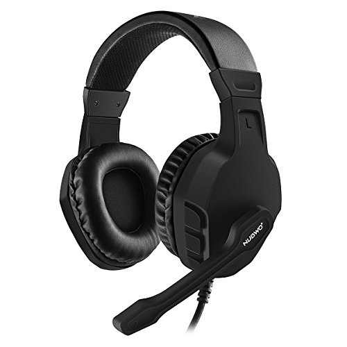 NUBWO U3 3.5mm Gaming Headset for PC, PS4, Laptop, Xbox One, Mac, iPad, Nintendo Switch Games, Computer Game Gamer Over Ear Flexible Microphone Volume Control with Mic - Black