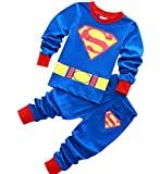 horizon where hope spread Kids & Toddler Pajamas Boys 2 Piece Long Pjs Set 100% Cotton Sleepwear (2-7 Years) (Blue, 4T)
